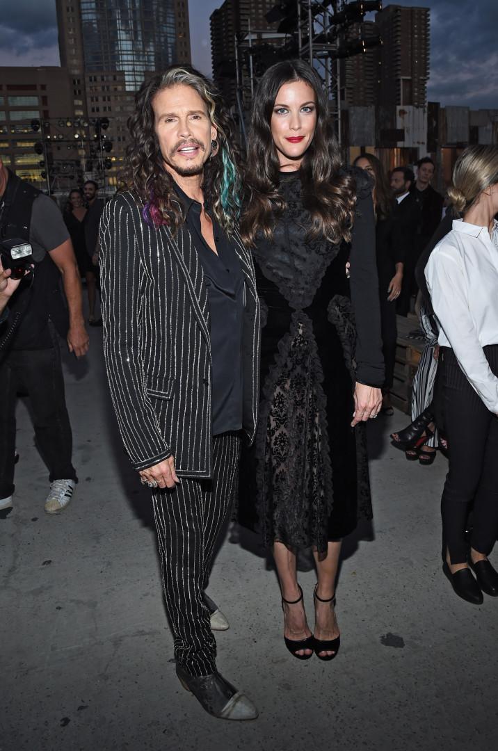 Steven Tyler, du groupe Aerosmith, et sa fille, l'actrice Liv Tyler