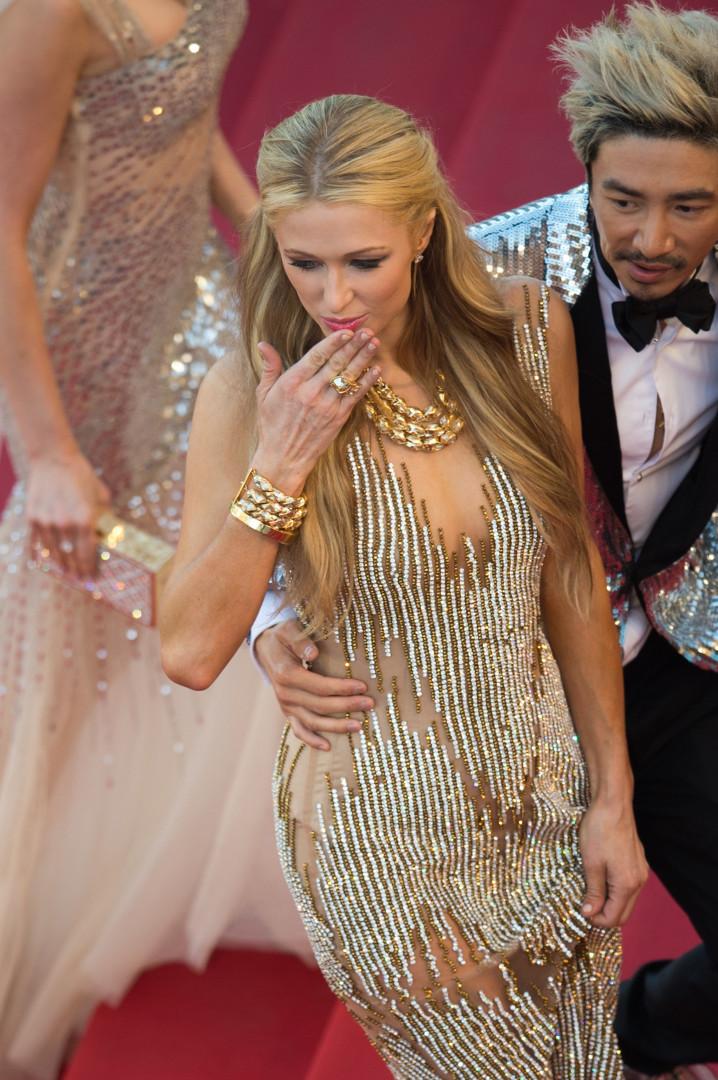 Paris Hilton a fait sensation à Cannes le 18 mai