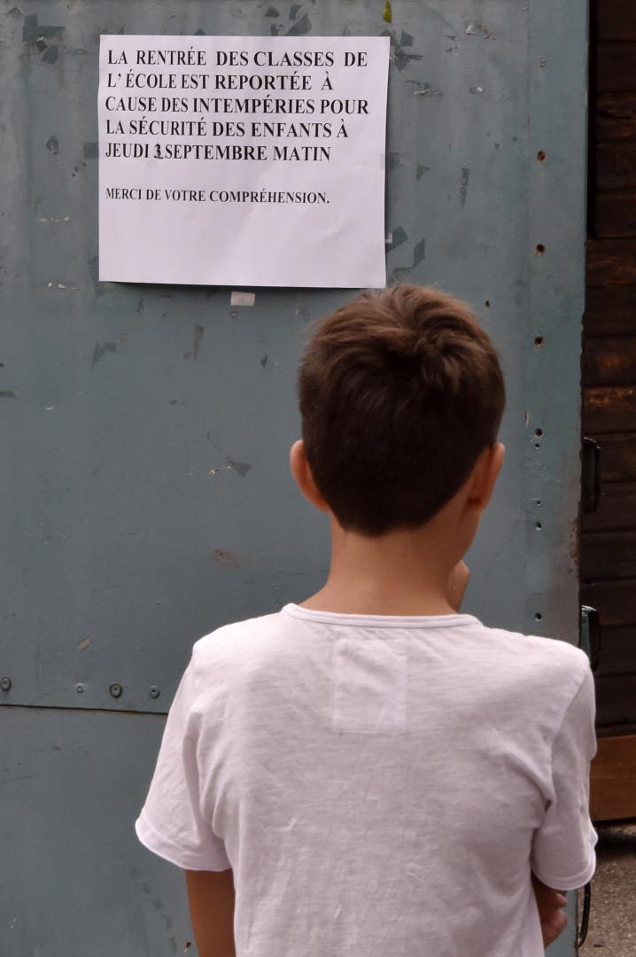 À cause des dégâts provoqués par l'orage, la rentrée scolaire a été reportée au 2 septembre 2015 à Montauban.
