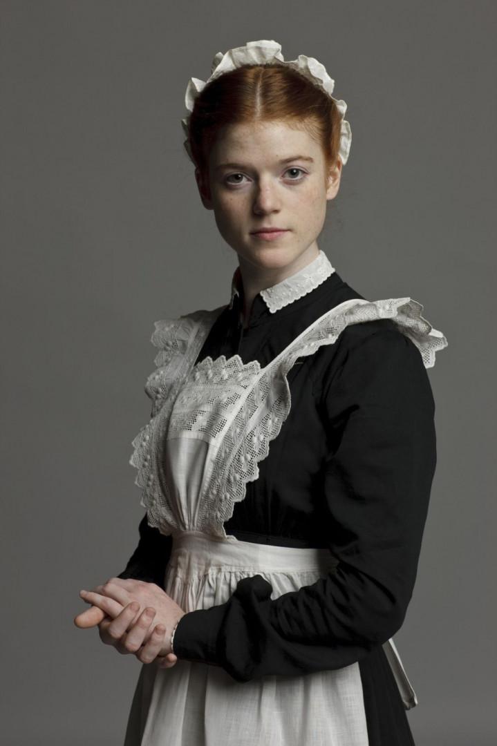 """Rose Leslie jouait une servante timide dans """"Downton Abbey"""""""