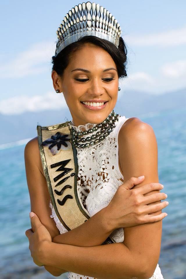 Miss Tahiti, Hinarere Taputu (24 ans), étudiante en Master en gestion hôtelière