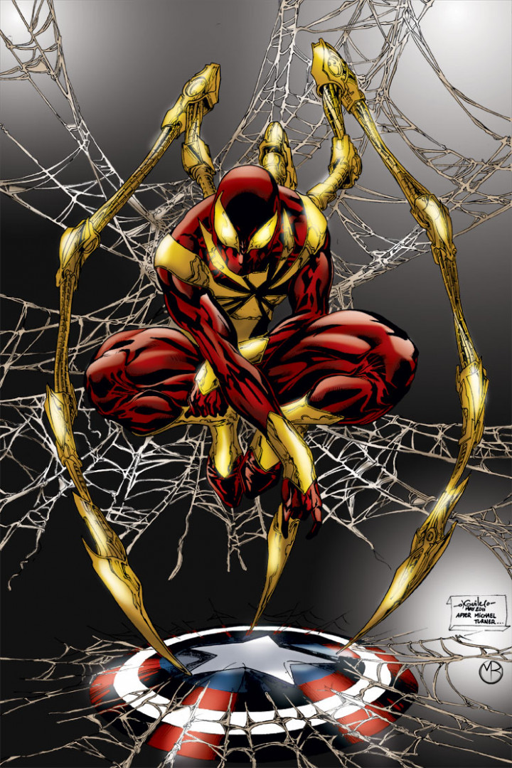 En bonus, l'Iron Spider-Man du comics Civil War (2006-2007)