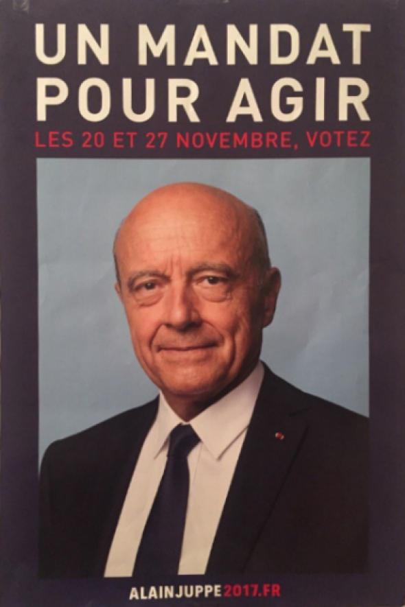 L'affiche de campagne d'Alain Juppé