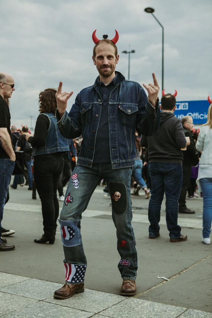 Jean-Marc et son pantalon customisé par ses soins