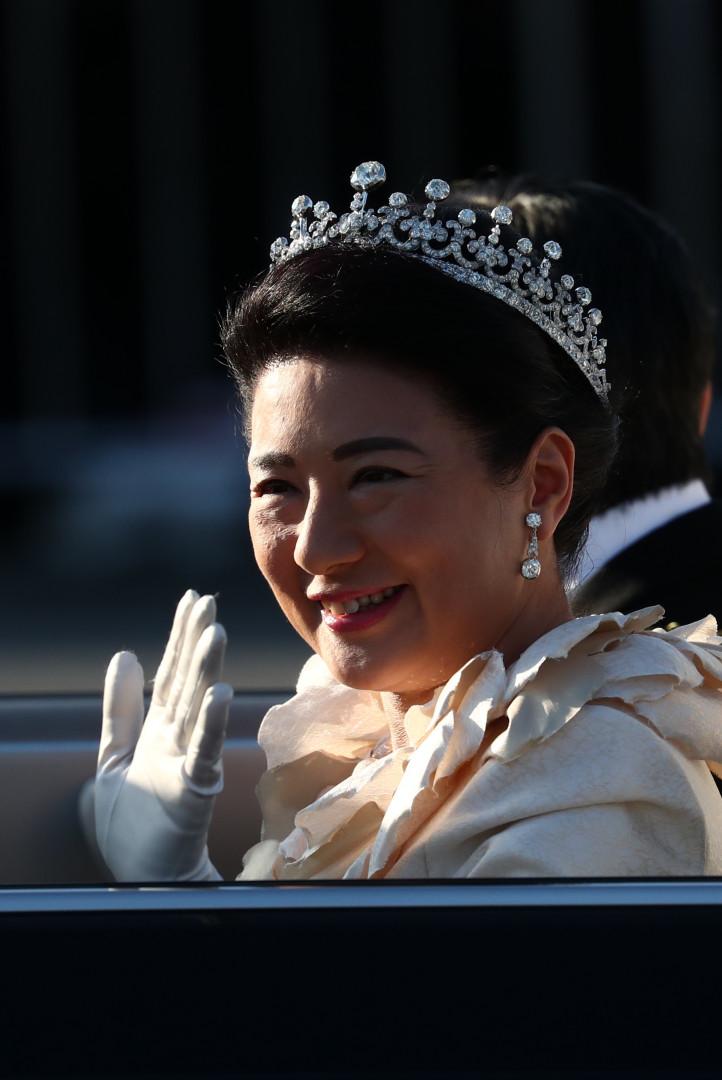 L'impératrice Masako défile dans les rues de Tokyo, le 10 novembre 2019