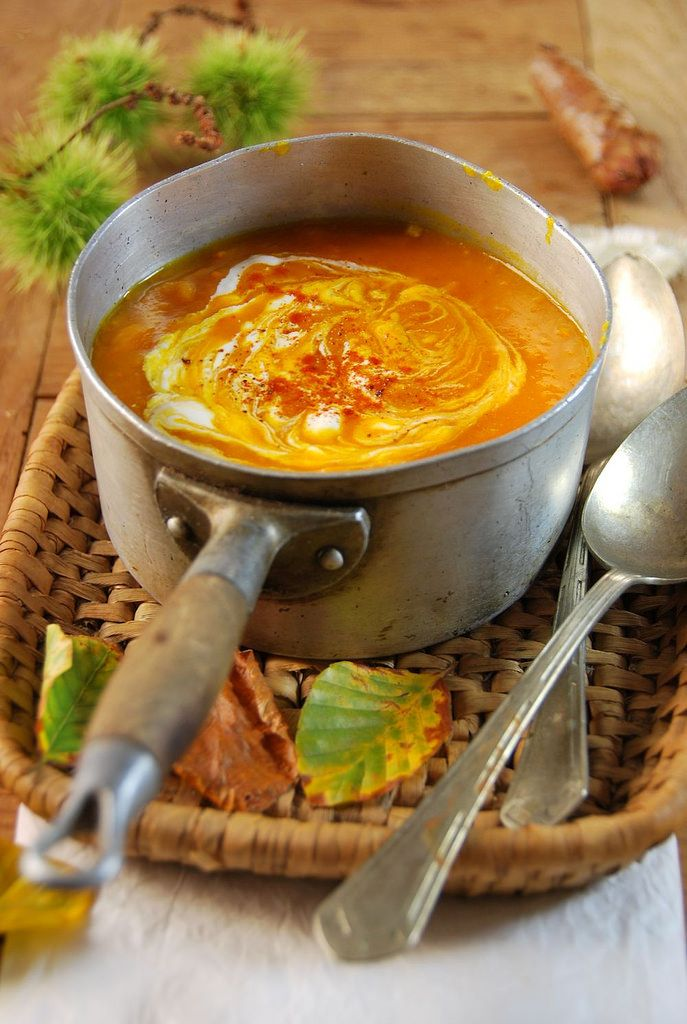 Soupe de potimarron et tomate.
