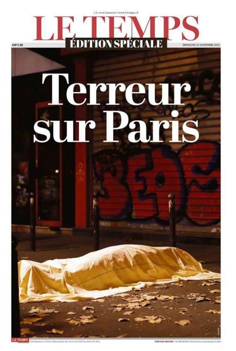 """Le Temps consacre une édition spéciale à la """"terreur sur Paris"""""""