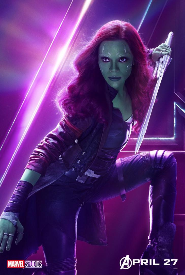 Gamora est la fille adoptive de Thanos, elle fait partie des Gardiens de la Galaxie