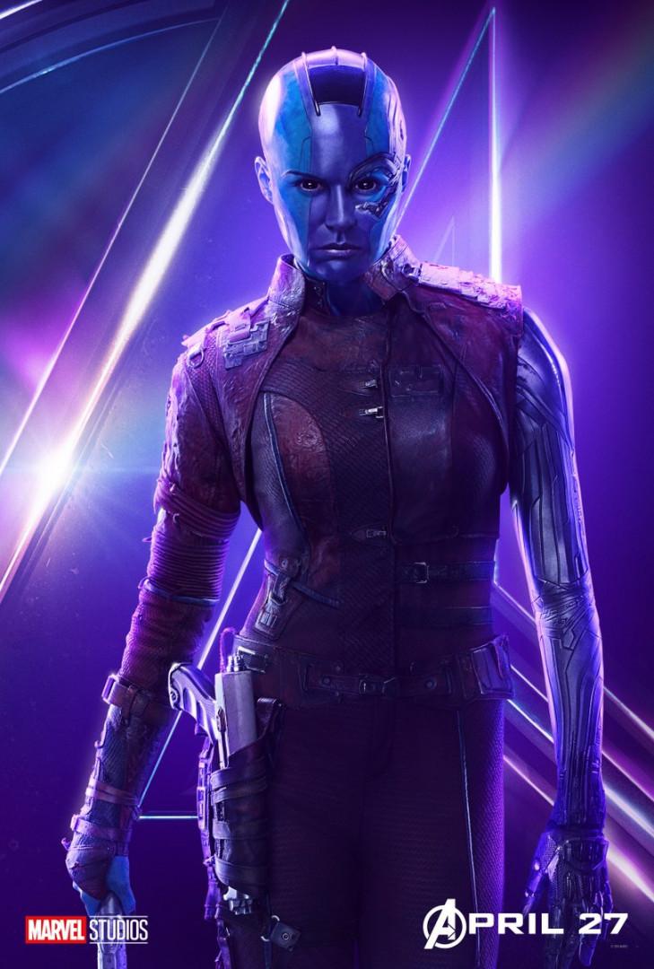 """Nebula est la seconde fille adoptive de Thanos, elle a rejoint l'équipe de Star-Lord dans """"Les Gardiens de la Galaxie 2"""""""