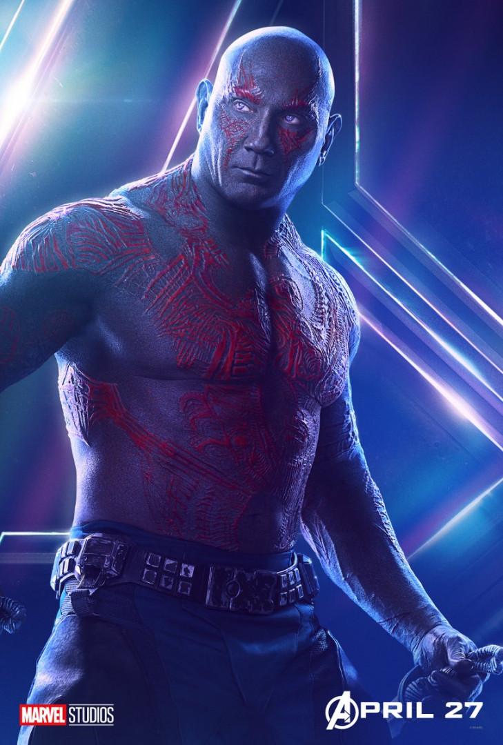 Drax le Destructeur est dans l'équipe des Gardiens de la Galaxie
