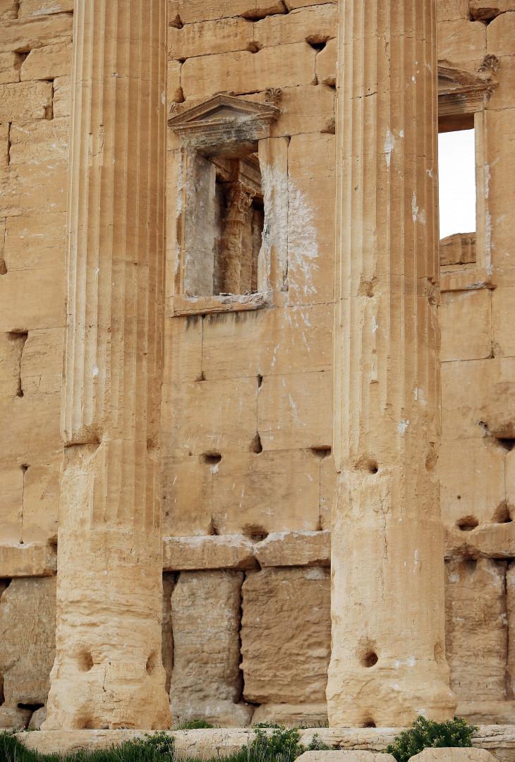 Des vestiges datant de la Rome antique sont menacés par les troupes du groupe terroriste (photo prise le 14 mars 2014)