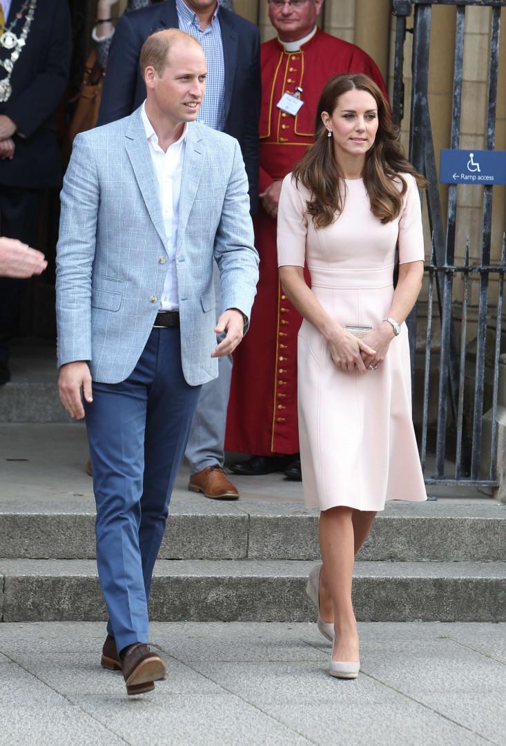 Kate Middleton et le prince William lors de leur déplacement en Cornouailles