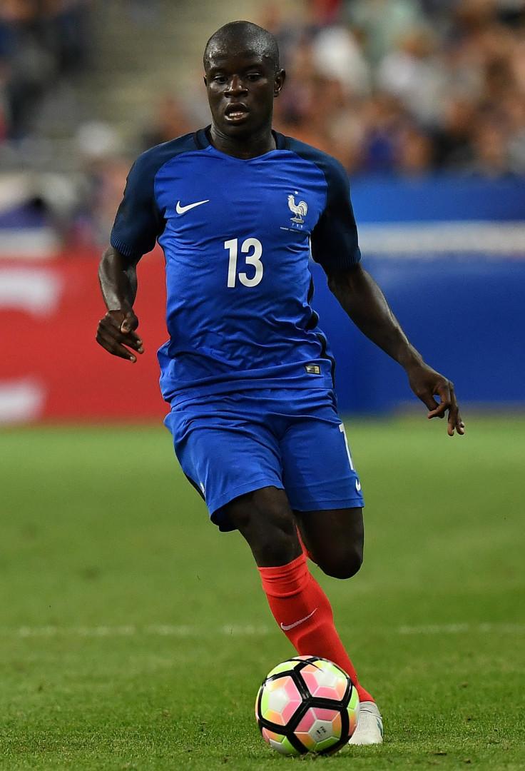 N'Golo Kanté avec les Bleus le 13 juin 2017