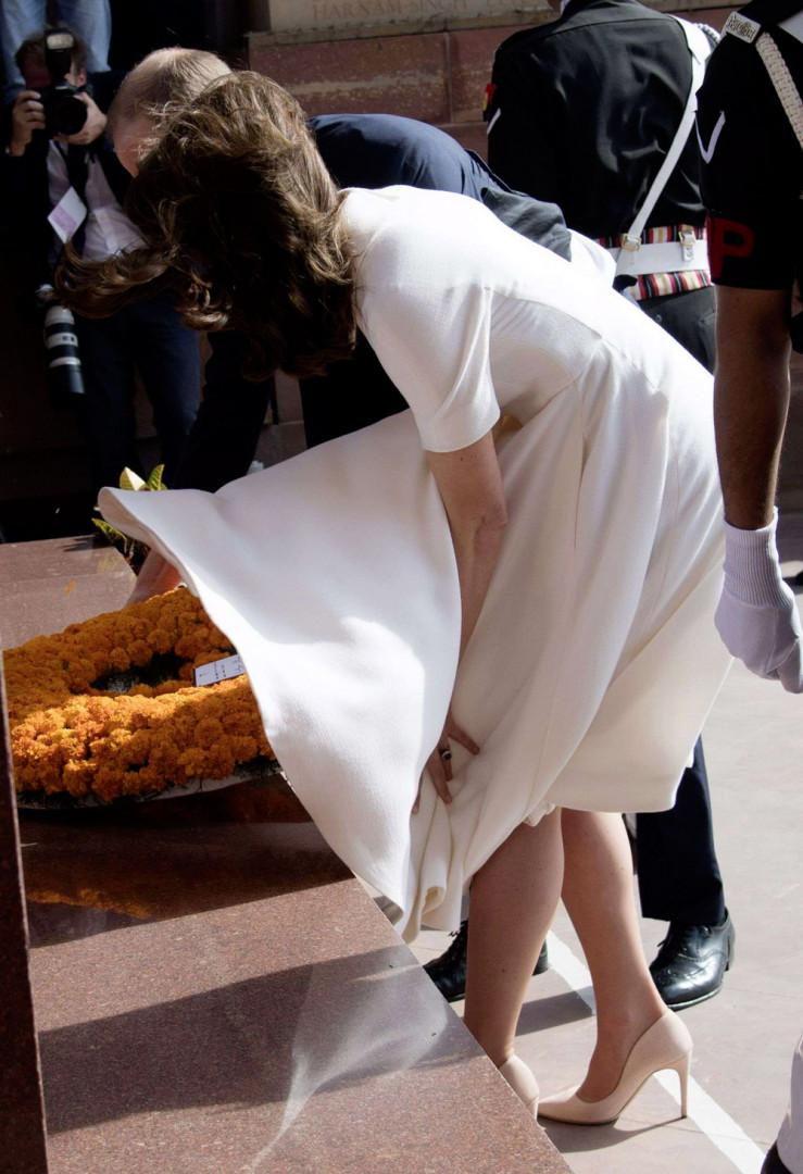 À Delhie, la duchesse a offert une scène digne de Marilyn Monroe aux Indiens conquis