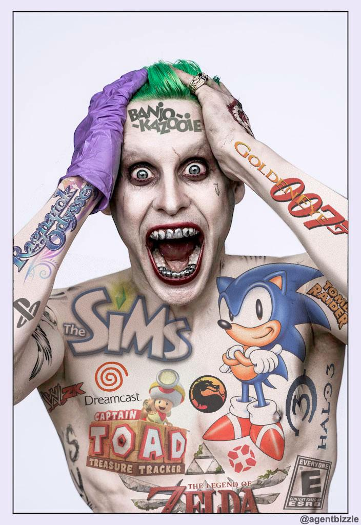 Avec des tatouages de jeux vidéo