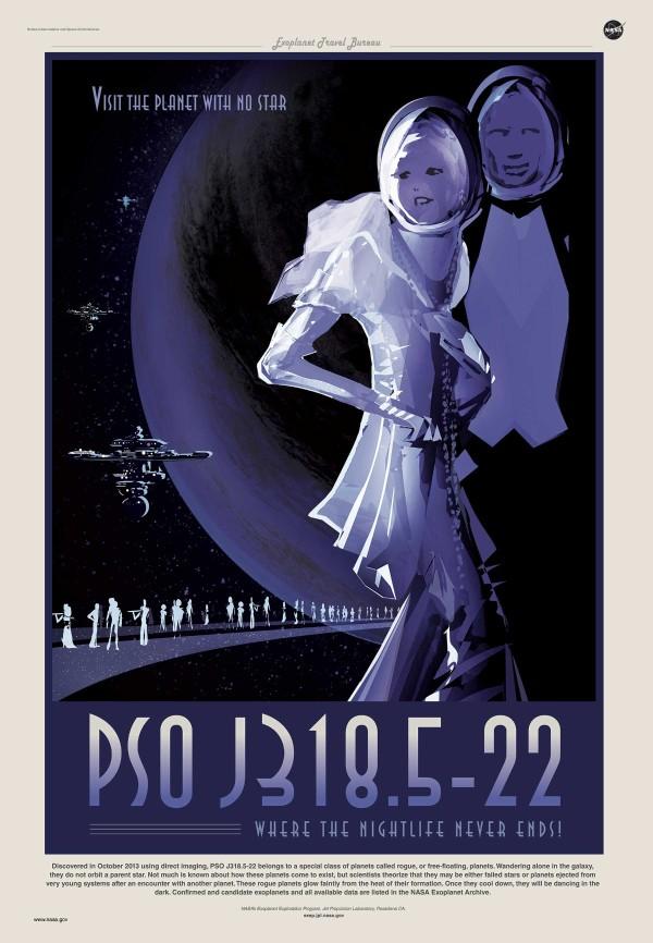 PSOJ318.5-22 a été découverte en octobre 2013. Elle est un objet libre de masse planétaire : elle possède la masse d'une planète mais n'est attachée gravitationnellement à aucune étoile et flotte dans l'espace comme un objet indépendant