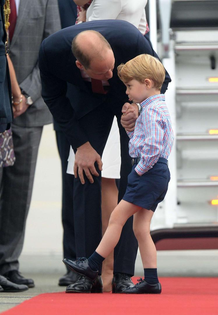 Le prince William tient à ce que son fils se tienne bien