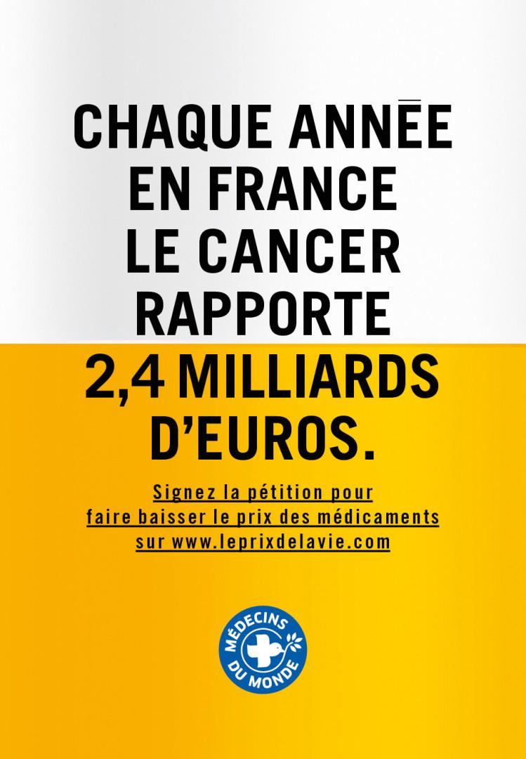 La campagne choc de Médecins du Monde contre le prix des médicaments