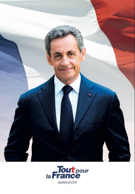 L'affiche de campagne de Nicolas Sarkozy