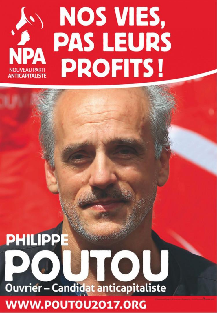 L'affiche officielle de Philippe Poutou