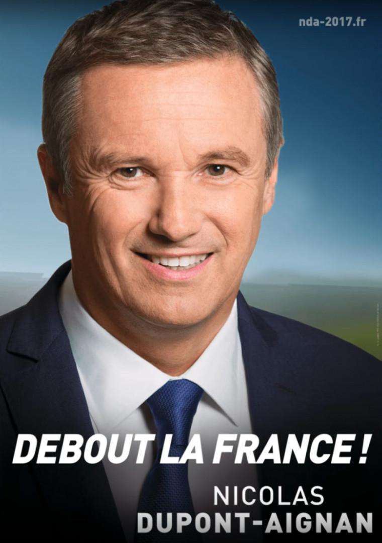 L'affiche officielle de Nicolas Dupont-Aignan