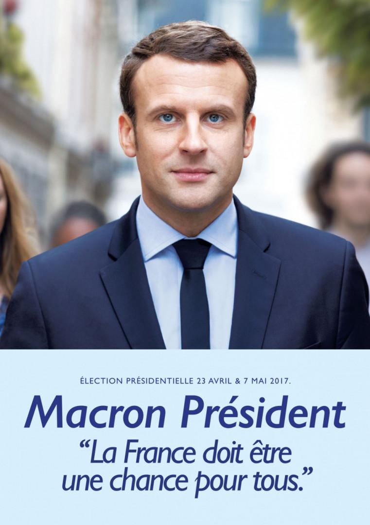 L'affiche officielle d'Emmanuel Macron