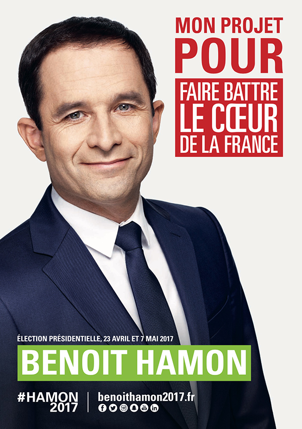 L'affiche officielle de Benoît Hamon