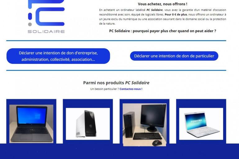 Sur le site pcsolidaire.fr vous pouvez acheter du matériel reconditionné et entamer les démarches pour faire un don