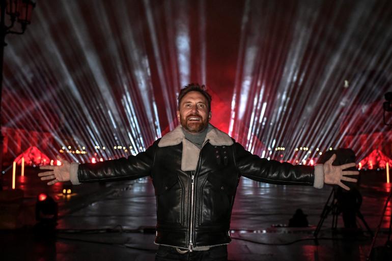 David Guetta lors de son livestream à Paris en 2021