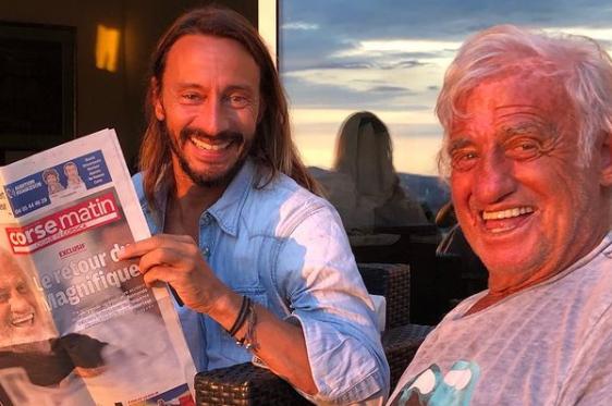Bob Sinclar et Jean-Paul Belmondo réunis le temps d'une photo