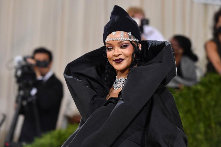 Rihanna lors du Met Gala 2021