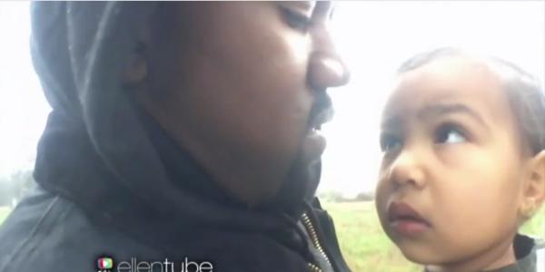 Kanye West est gaga de North