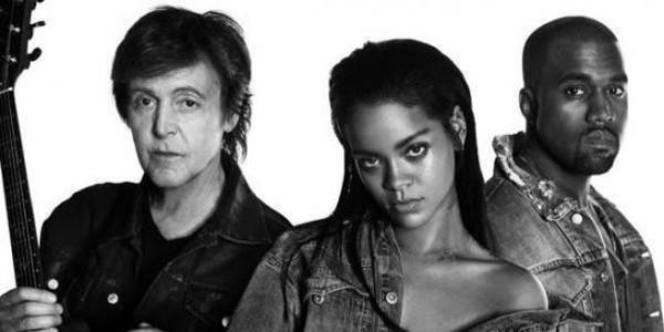 Paul McCartney, Rihanna et Kanye West proposent un titre acoustique