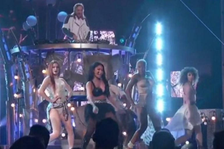 David Guetta et Nicki Minaj aux Billaboard Music Awards