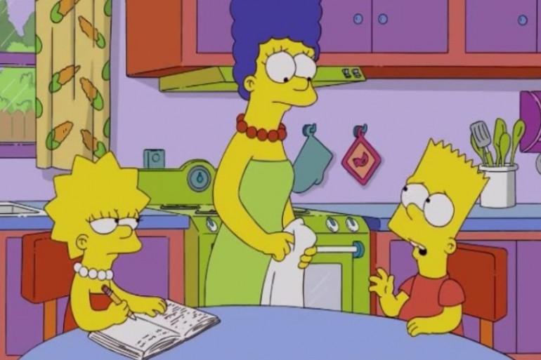 Marge Simpson et ses enfants