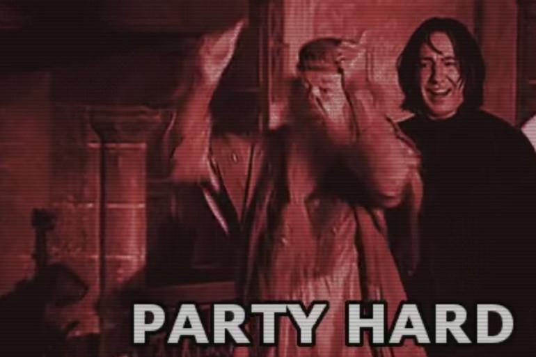 Croiser Dumbledore et le professeur Rogue en soirée, la classe !
