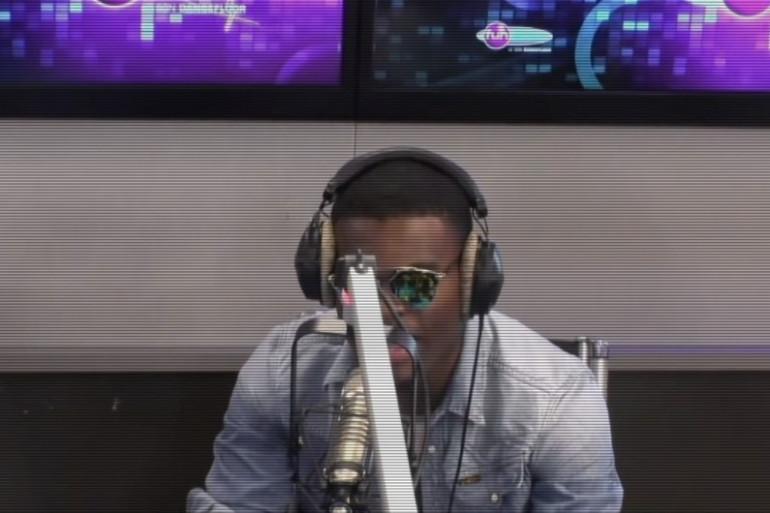 Omi dans les studios de Fun Radio le 10 juin 2015