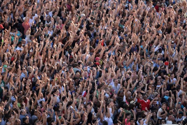La foule à Marseille pour la fête de la musique en 2014