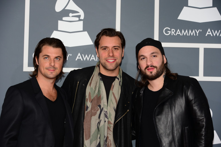 Axwell, Angello and Sebastian Ingrosso, aux Grammy Awards à Los Angeles le 10 février 2013