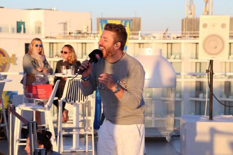 Bruno Guillon à Ibiza le 23 juin 2016