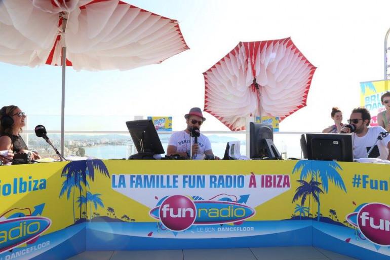 La famille Fun Radio à Ibiza