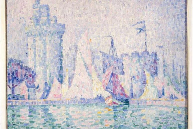 """Le Port de la Rochelle"""" (huile, 1915) de Paul Signac / Musée des Beaux-Arts de Nancy"""