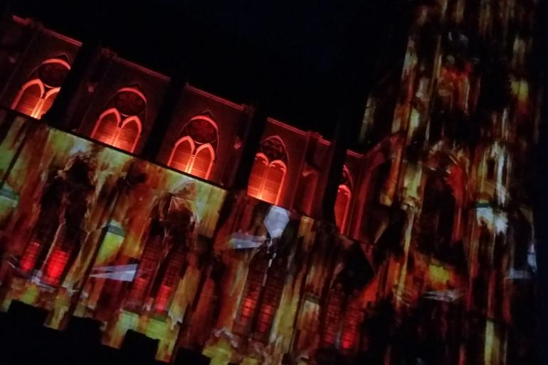 Le bas côté nord de la cathédrale de Toul s'illumine cet été