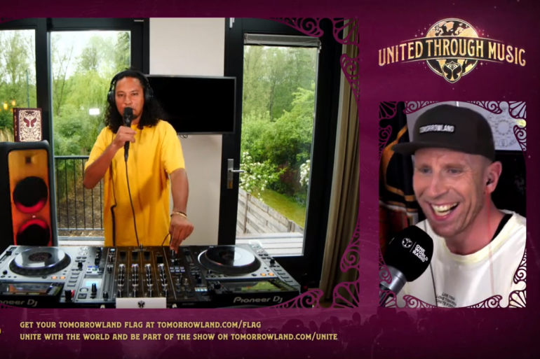 """Ryan Marciano mixe pour le """"United Through Music"""""""