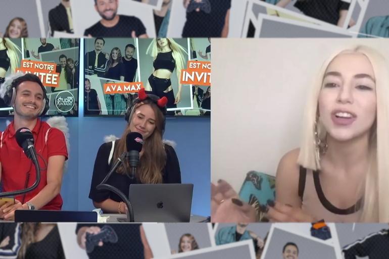 Ava Max en interview sur Fun Radio