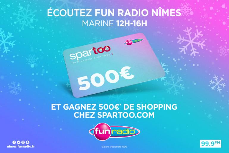 500 euros à gagner chez Spartoo