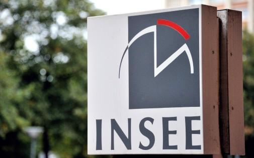 Le logo de l'Insee à Lille, le 14 septembre 2010