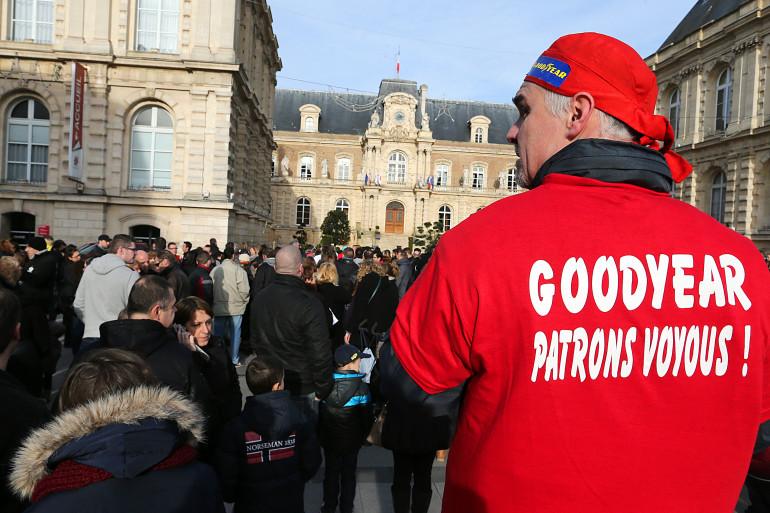 Manifestation des salariés de Goodyear, le 18 janvier, à Amiens. (archives)
