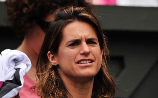 Amélie Mauresmo, à Wimbledon en 2013