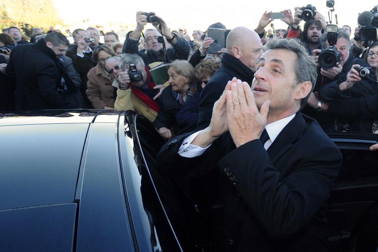 Nicolas Sarkozy, le 30 janvier 2014, à Châtelaillon-Plage